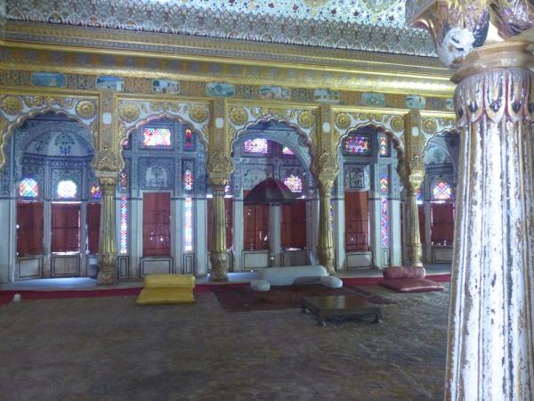Throne room, Mehrangarh.