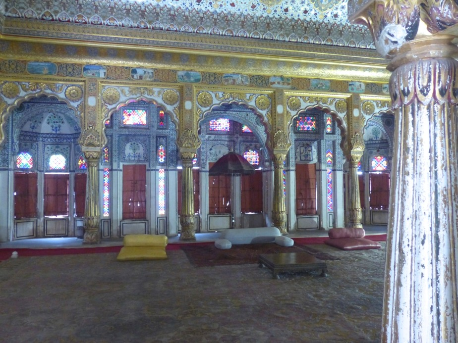 Throne room, Mehrangarh.
