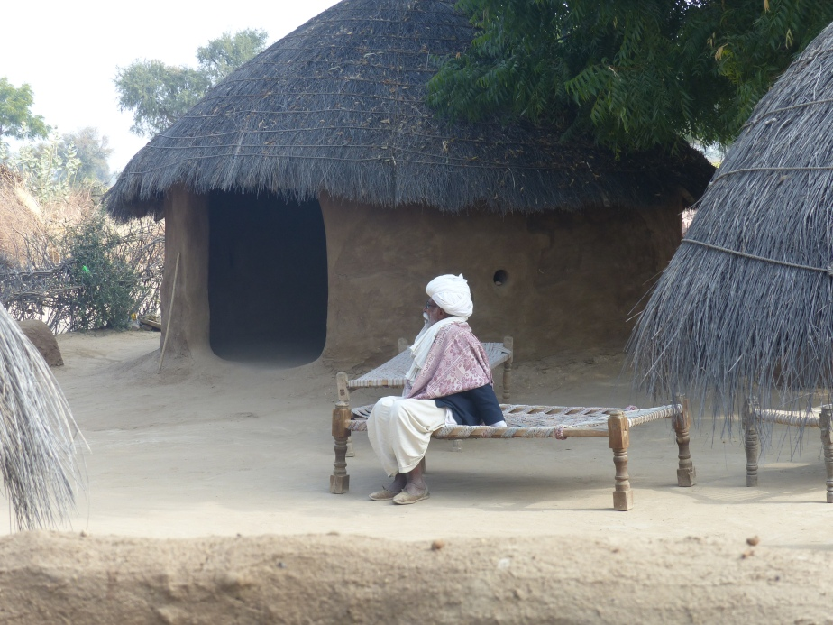 A Bishnoi elder by his house.