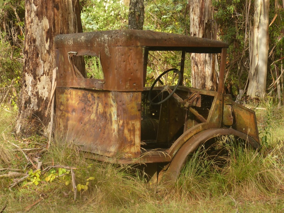 Old truck cabin